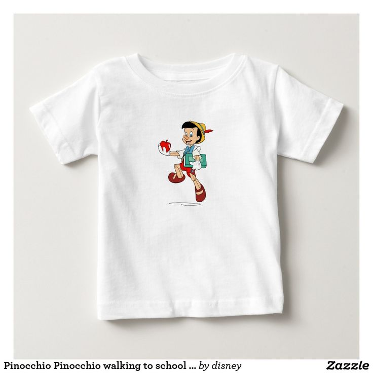 Pinocchio Pinocchio walking to school Disney. Regalos, Gifts. #camiseta #tshirt