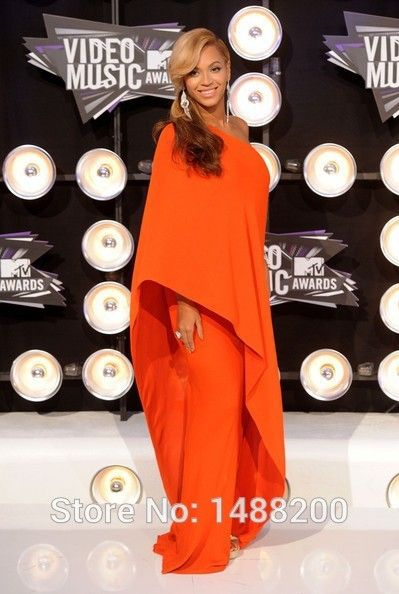 Custom Made Burnt Orange Chiffon One Shoulder Long Sleeve Maternity Evening Dresses for Pregnant Women Hippe Style Party Gowns