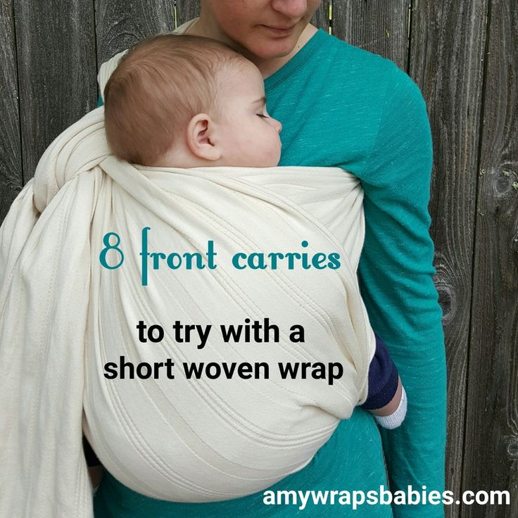 8 front carries with a shortie - short woven wrap. Great woven sling carries for summer. Base-4 base-3 base-2