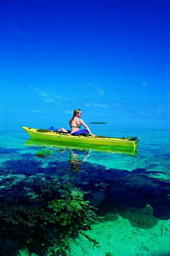 Kayaking on clear blue waters.Clear Water, Buckets Lists, Dreams Vacations, Kayaks, Ocean Kayak, The Ocean, Beautiful, Belize, Places