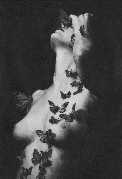 Naked girls doing the butterfly exclusively