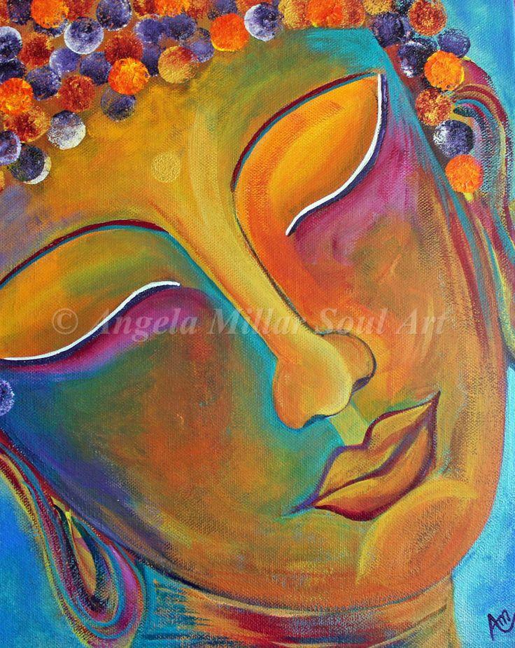 Buddha, Buddha print, Buddha art, Buddha handmade, Buddha face, Buddhism, Zen, Spiritual art, Buddha wall art, Buddha home decor (unframed) by AngelaMillarSoulArt on Etsy https://www.etsy.com/listing/205496631/buddha-buddha-print-buddha-art-buddha