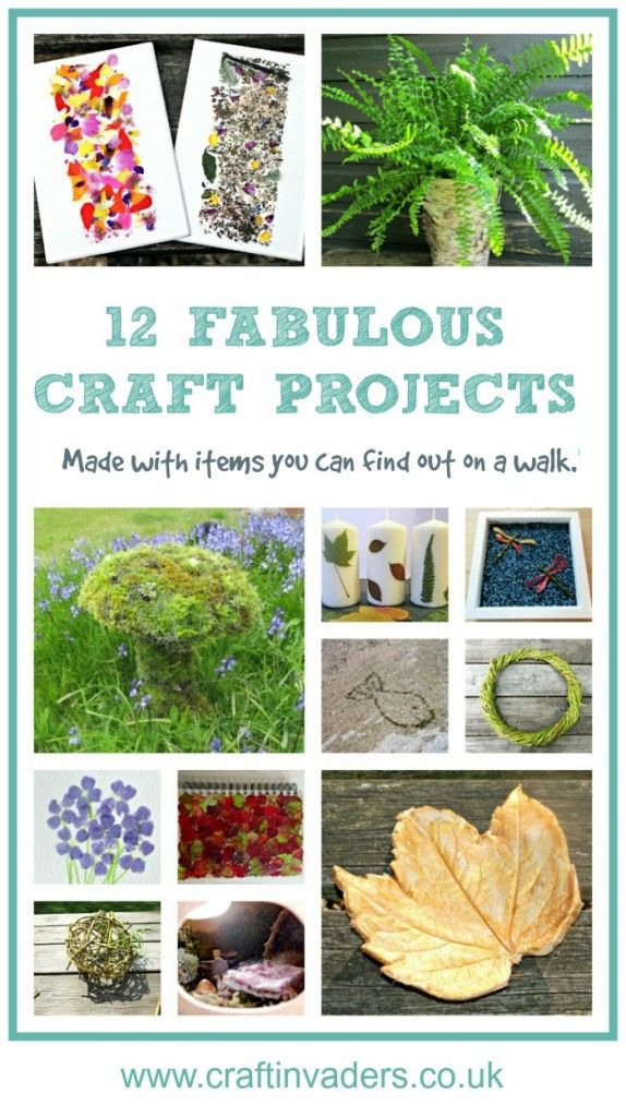 12 fabulous ideas for crafting with natural materials. Nature Craft at its best!