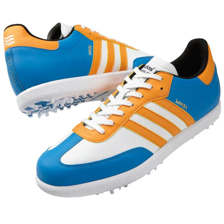 His golf brand is Adidas... I want to see him rock these Adidas Samba Mens Golf Shoes - Limited Edition PGA Championship. He could absolutely pull it off! My boy!