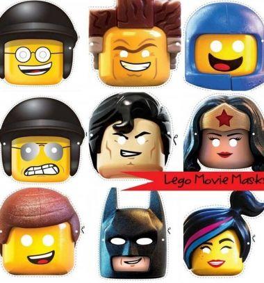 The Lego Movie masks (with free printables) / Lego kaland maszkok (nyomtatható mintaívekkel) / Mindy - craft tutorial collection