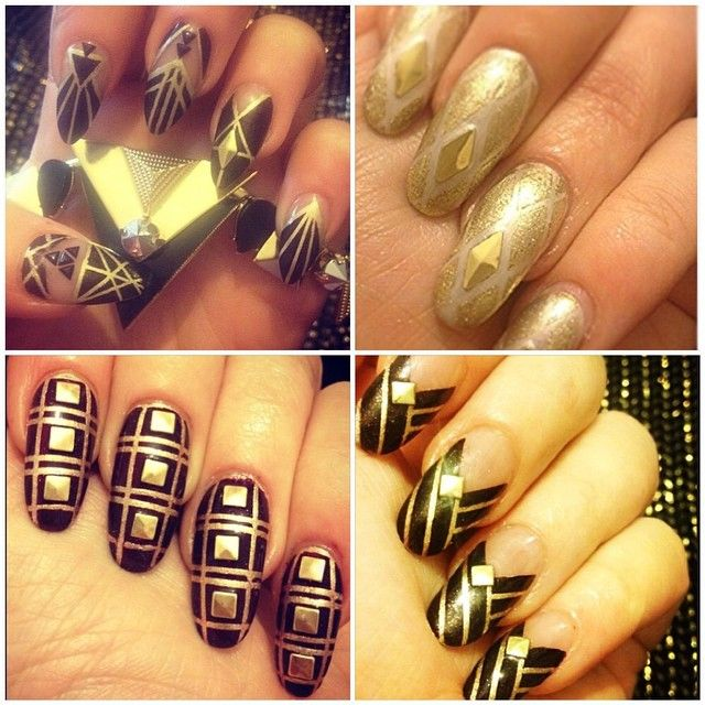 31 best great gatsby art deco 1920s inspired nails fashion nailaddicthagglets photo on instagram great gatsby nailart prinsesfo Images