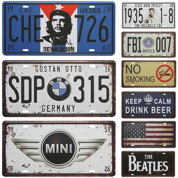 BMW SDP315 Car Metal License Plate Vintage Home Decor Tin Sign Bar Pub Cafe Garage Decorative Metal Sign Art Painting Plaque