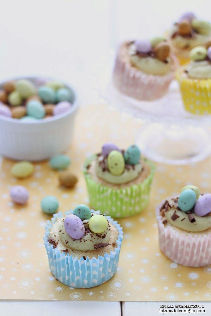 La tana del coniglio: Cupcakes di Pasqua al cioccolato bianco