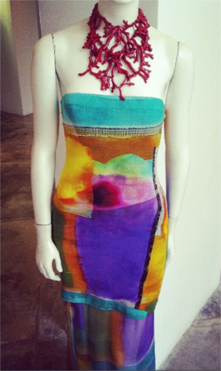 Summer Essentials. The Silvia Tcherassi Head-Turning Summer Dress. Mix it up with a coral necklace. Perfect summer look.