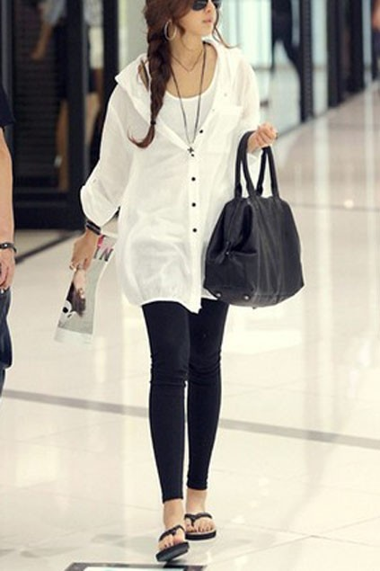 Distinctive Hooded Single-breasted Cotton Blouse - OASAP.com | The General Low Boots And Tunics