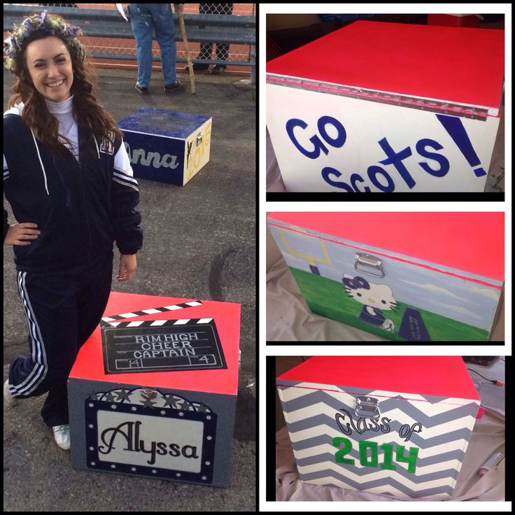 Cheer box. High school cheerleader. Box painting ideas