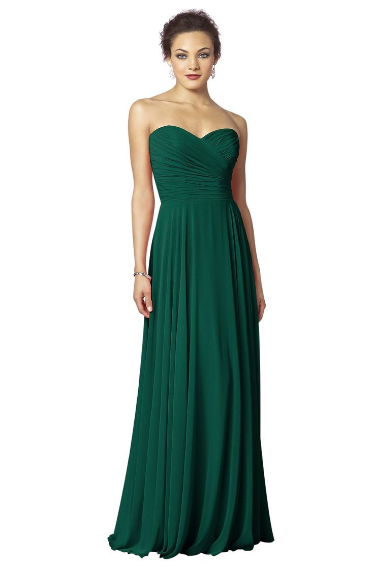 After Six 6639 Bridesmaid Dress | Weddington Way in Hunter green- So simple and classy for my bridesmaids in any color.