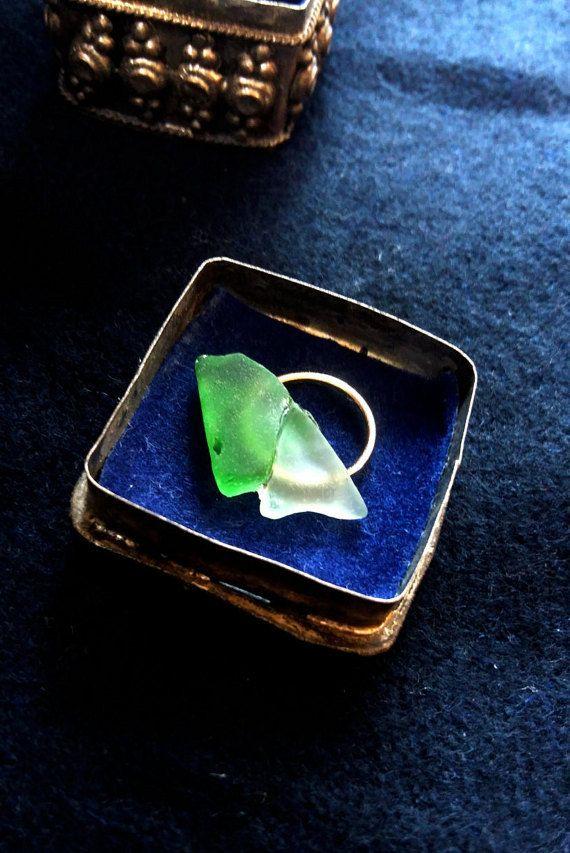 Sea glass double mountain necklace https://www.etsy.com/listing/476041829/sea-glass-necklace-double-mountain