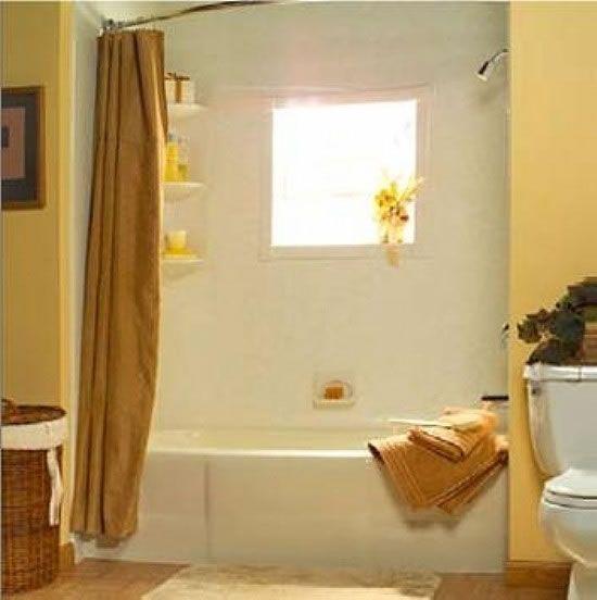 Bath Systems Photo Gallery Finished Bathtub Remodel - Window Wrap Shown