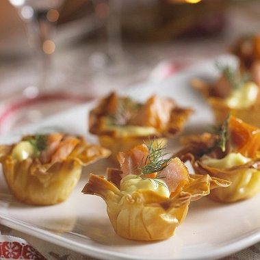 Mini salmon filo tarts recipe - From Lakeland