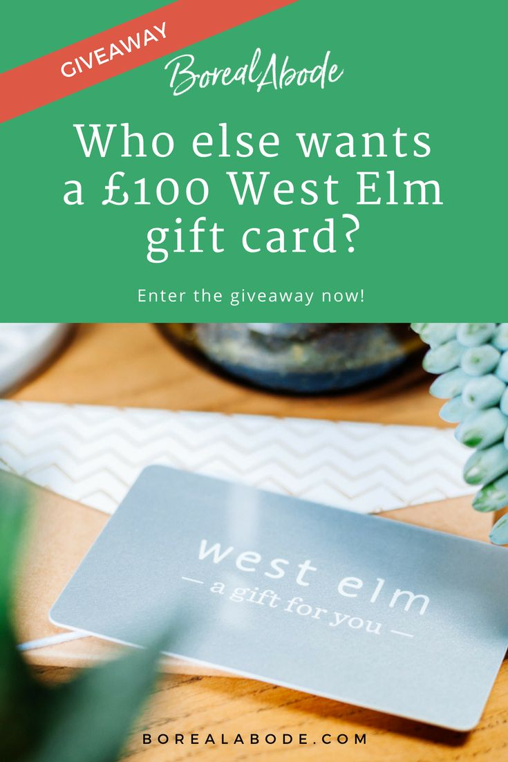 Enter the giveaway today to win a £100 West Elm gift card! Hurry up! Just a few days left. +18 and UK only. Read full terms on giveaway page.