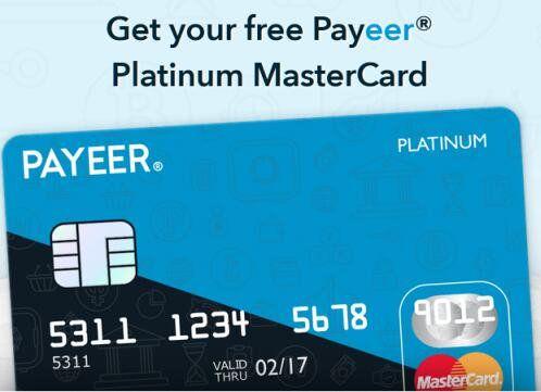 Payeer Platinum MasterCard