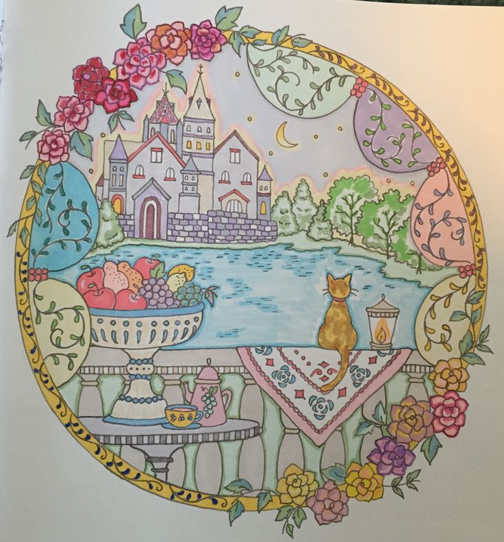 Romantic Country coloring book kkb