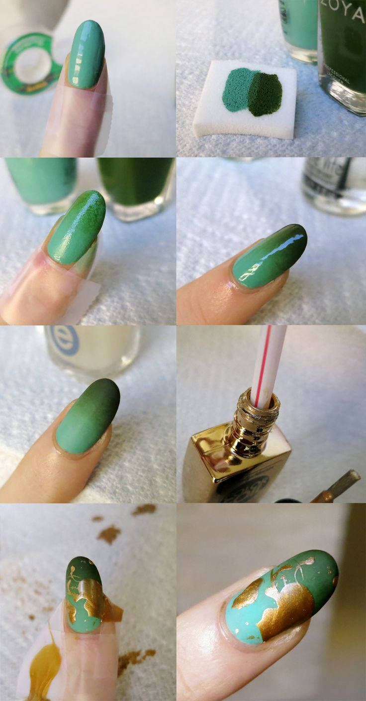 Matte gradient + gold splatter tutorial Thanks for all the support and encouragement, folks. Here's my tutorial for the matte gradient/gold splatter nails— accept no substitutions! You will need: at...