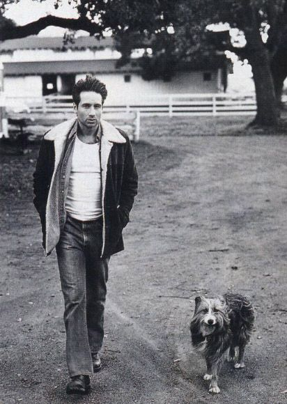 David Duchovny and his dog, Blue. MFEO.
