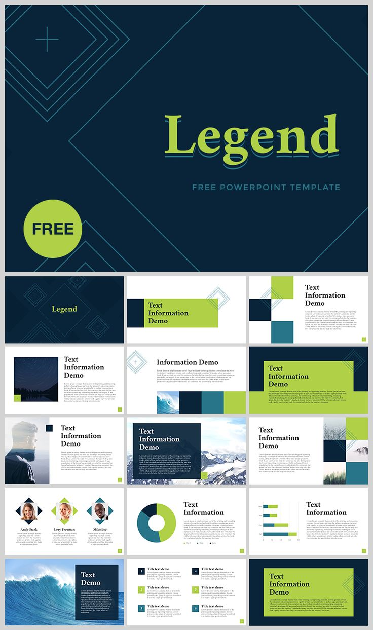 "FREE PowerPoint template ""Legend"" - DOWNLOAD link…"