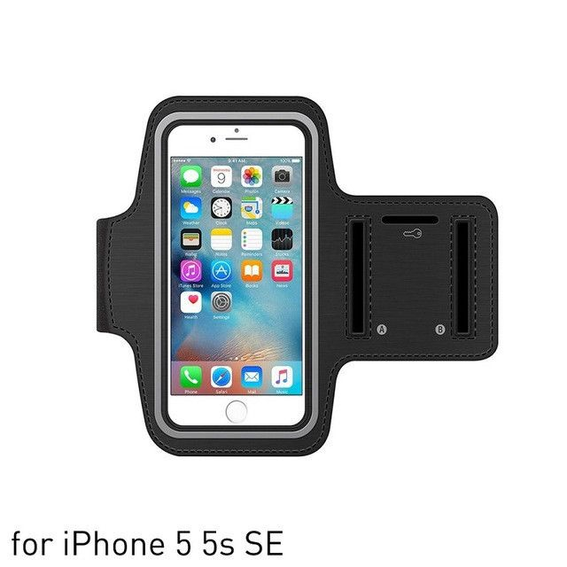 Sports Armband Case for iPhone 5s 6s 6s 7 Plus Bag for Running Sports Mobile Phone Holder Reflective Bracelet Fitness Armband