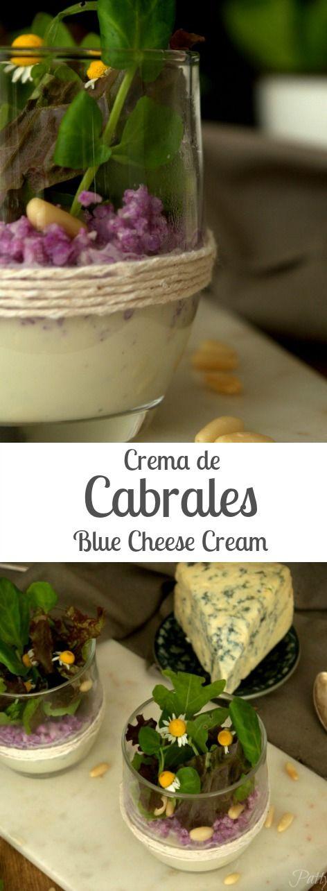 Crema de cabrales con peras caramelizadas - Ideal para Navidad   Patty's Cake Cabrales blue cheese cream and caramelized pears (English recipe included)