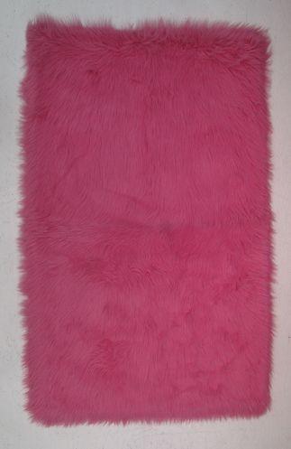 fun rugs flokati fuzzy rug hot pink
