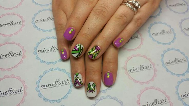 African themed nailart by Minelliart