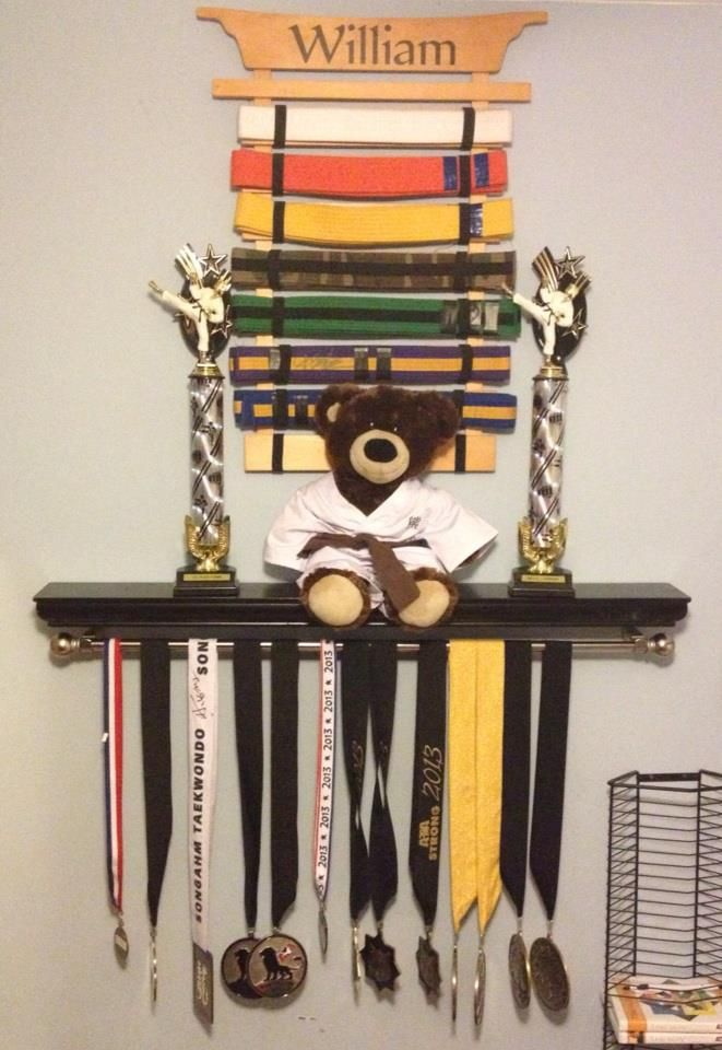 Martial Arts Awards Display Just A Ledge Shelf With A