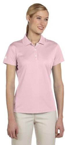 adidas Golf Women's ClimaLite Basic Performance Pique Sport Shirt - A131