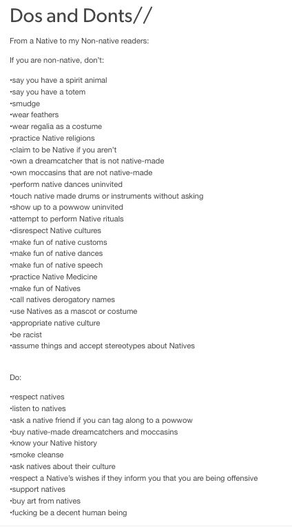 // how to not be racist to indigenous peoples