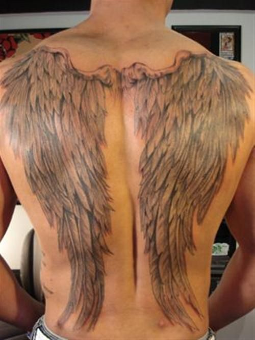 Image result for wings back tattoo
