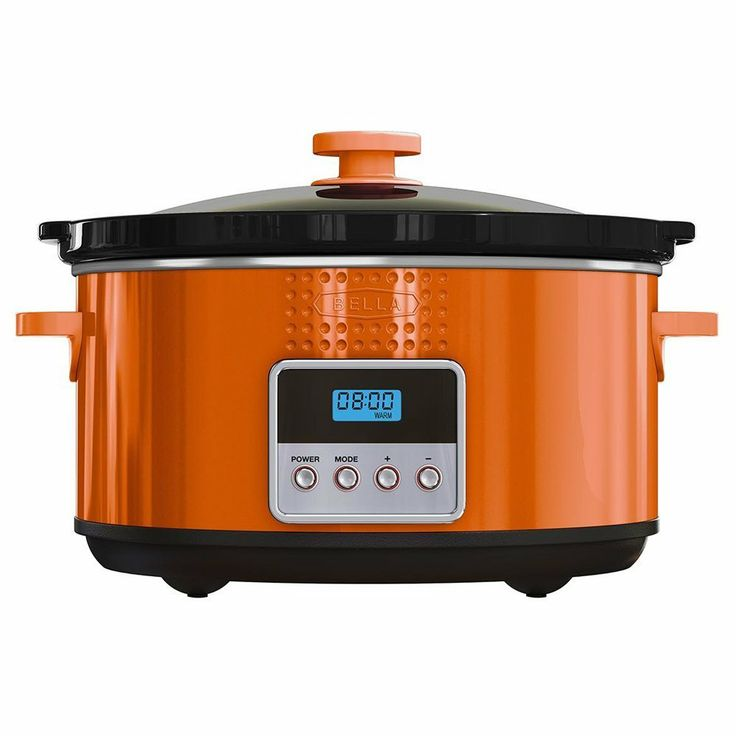 BELLA Programmable Slow Cooker 5-Quart Orange $28.95 OUT