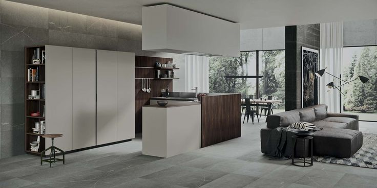 The 2.1 system is characterized by six types of openings, which allow to interpret in a different way the functionality and aesthetic of the kitchen. Visit our NYC showroom for more details.