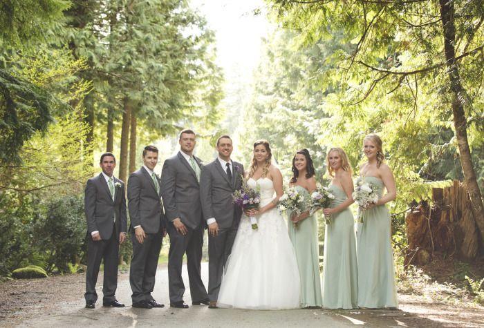 Bridal Party Photography, Whonnock Lake Hall.