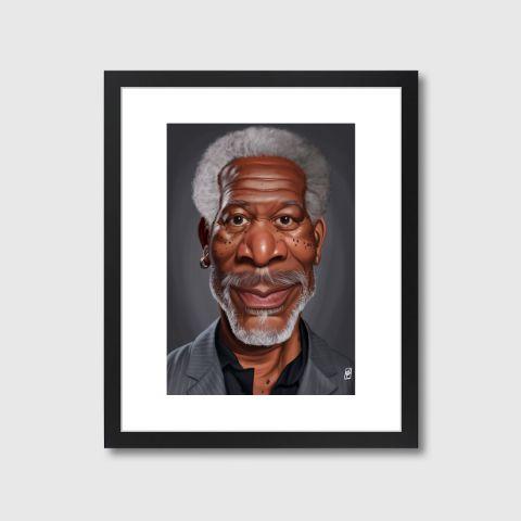 Celebrity Sunday - Morgan Freeman | Monde Mosaic art | decor | wall art | inspiration | caricatures | home decor | idea | humor | gifts