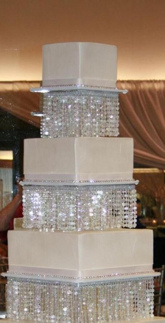 Square Cake Stand Chandelier, Diy Chandelier Cake Stand