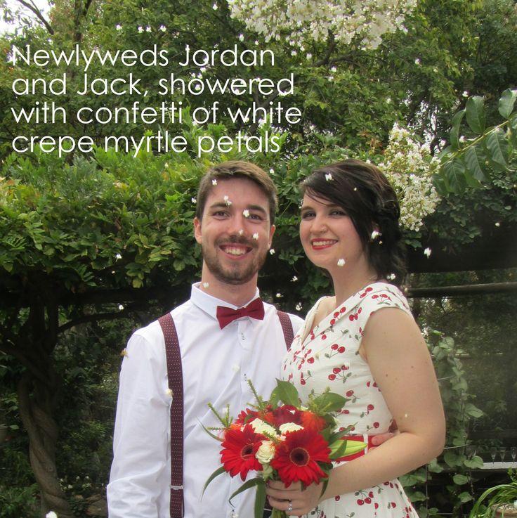 Jordan and Jack married in The Heart Garden in March