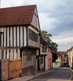 Colchester, the oldest recorded town in England, and home to the Abbey of St. John at Colchester, with which the St Clair family were associated.
