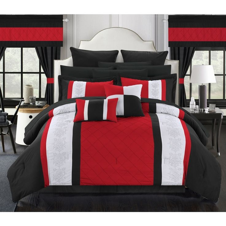 Chic Home Dylania Red 24-piece Bed in a Bag with Sheet Set