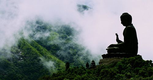 Buddha on a hill.