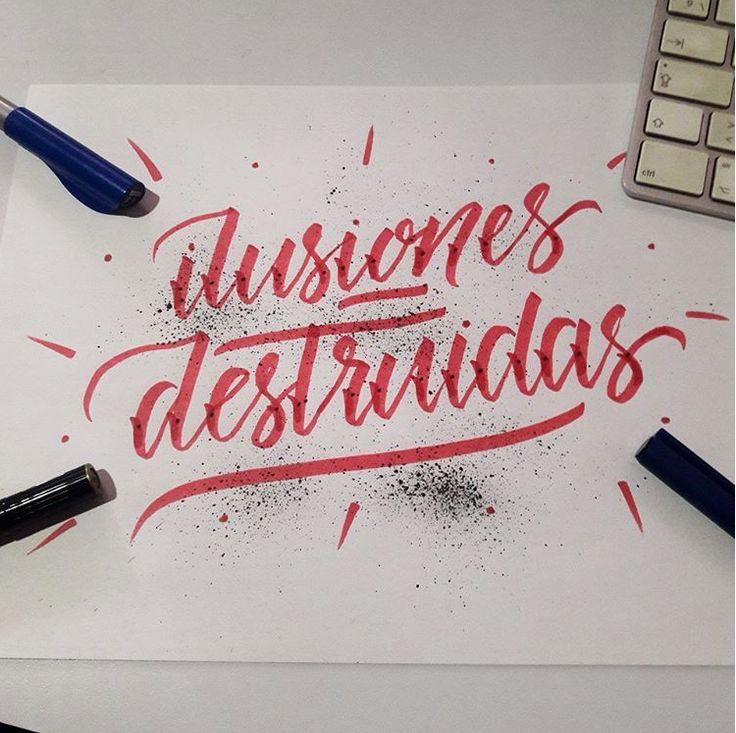 Situaciones de la vida que no dejo que me hundan/ Destroyed illusions #craft #andrescraft #hate #love . . .  #typedrawn #50words #calligraphy #TYxCA #lettering #typeros #typegang #artoftype #handmade #hechoamano #art #arte #diseño #design #tipografia #typography #sketch #typespot #style #sreetart #colombia #handlettering #ink #thedesignlab #illustration
