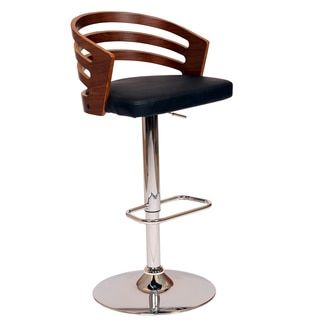 Shop for Adele Swivel Barstool In Black PU/ Walnut Veneer and Chrome Base and more for everyday discount prices at Overstock.com - Your Online Furniture Store!