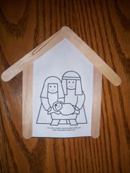 Nativity stable hang up craft.