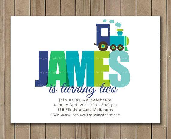 Train Birthday Invitation Boy Invitation by TracyAnnPrintables, $15.00