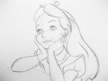 Alice In Wonderland Realistic Art, Pencil Drawing Images