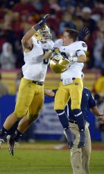University of Notre Dame senior linebacker Manti Te'o has been named to the 2012 All-American first team by the American Football Coaches Association and he also was selected among five finalists for the Walter Camp Football Foundation Player of the Year Award.