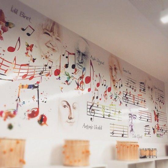 Müzik Sınıfı Duvarı //  Music Lab.