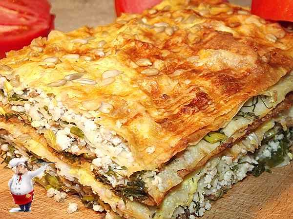 Пирог из лаваша с курицей